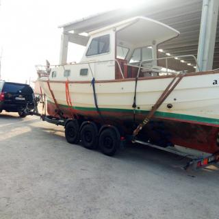 lodní vlek  3osý na 3500kg a 7,5-11m délky- uveze i přes 4,5tuny bez problému